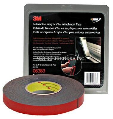 3M™ 06383 Double Sided Automotive 7/8 Inch x 60 Foot BLACK Tape 6383