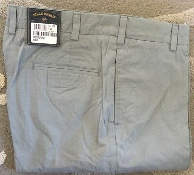 BRAND NEW!-Bills khakis M2-TPKH Size 44 PLAIN TROPICAL POPLIN KHAKI  $165