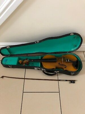 Vintage Violin With Case Bow. In Need Of Some Love.