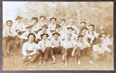 "Palestine Texas group of workers from the railroad shop 8"" by 10"" approx 1900"