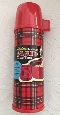 ALADDIN'S Heritage Red Plaid Thermos Vacuum Bottle RETRO PICNIC REPRODUCTION NWT