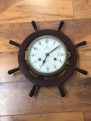 Nautical Maritime Ship Wheel Clock by Schatz 9147