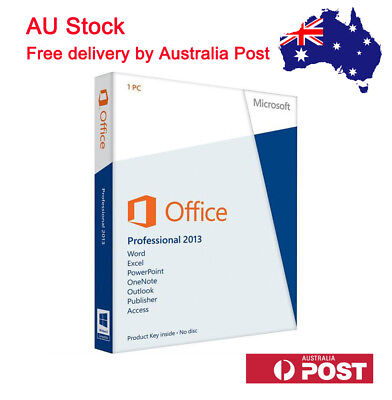 Microsoft Office Professional 2013 Product Key With DVD for 1 PC Sealed Packing