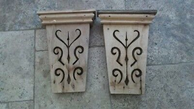 Pair of BEAUTIFUL Antique Corbels Architectural Accent Pieces