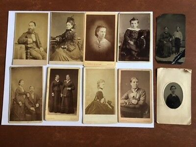 10 - Tintypes & CdV Photos Lot