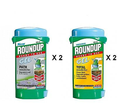 RoundUp Gel Super Strength Weedkiller Path & Total Spot Treatment X 4 Round Up