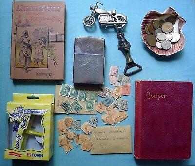 Old Collectibles Job Lot, Vintage Coins, Victoria Stamps, Antique Books & More..
