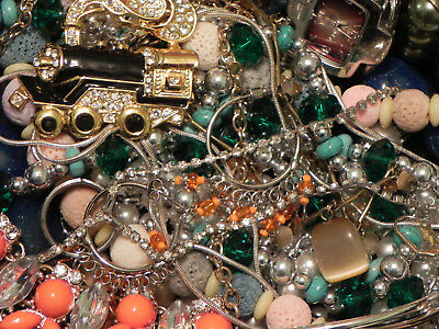 Estate Sale Lot of Vintage to Modern Jewelry, Untested, Some Signed #648