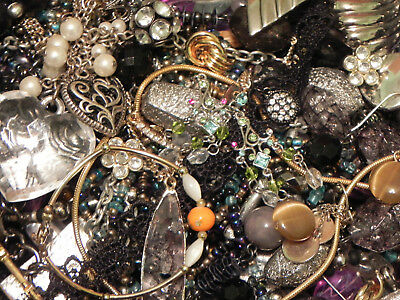 Estate Sale Lot of Vintage to Modern Jewelry, Untested, Some Signed #650