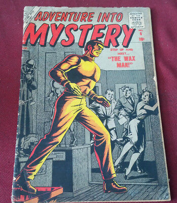 ADVENTURE INTO MYSTERY #6 ATLAS Comics,GREAT EVERETT COVER Fair Condition