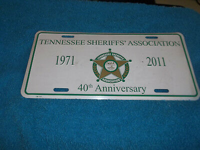 1971-2011 Tennessee Sheriffs` Association 40Th Anniversary License Plate