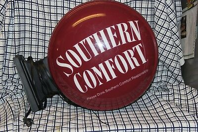 Southern Comfort (smooth-drinking whiskey)  Round Wall Hanging Bar light 2 sided