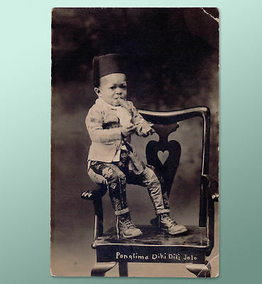 c1910 POSTCARD LITTLE PERSON DWARF NOT SIDESHOW PERFORMER GOVERNOR PANGLIMA
