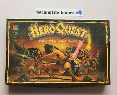 (Vintage) HEROQUEST: High Adventure In A World Of High Magic ~ MB (1989).