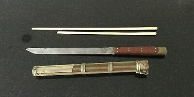 antique chinese knife and chopsticks
