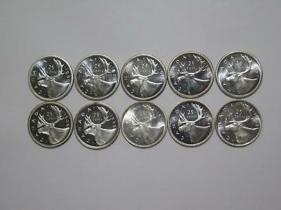 Canada 25 Cents Mixed Type Variety 1960 - 1953 Old World Coin Collection Lot #c