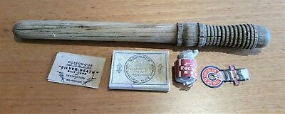 Vintage Laundry Copper Stick Blue Bag Silverfish Bait Silver Cleaner Fuse Wire