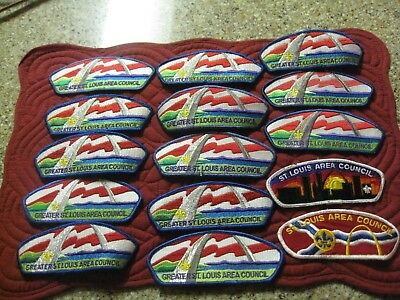 Boy Scout,Lot of 15 CSP patches from St Louis Area Council