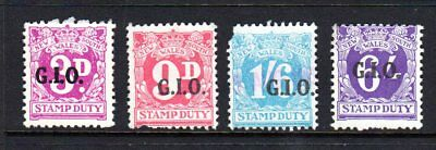 NSW ...GIO...( 4 ) .STAMP DUTY...overprints