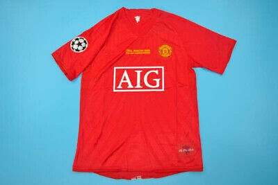 d8a45f6463a Manchester United 2007-2008 Champions League Final Soccer Jersey Football  Shirt