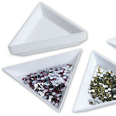 2pcs Container Holder Triangle Phone / Craft / Nail Art / Rhinestones GemsJ3W