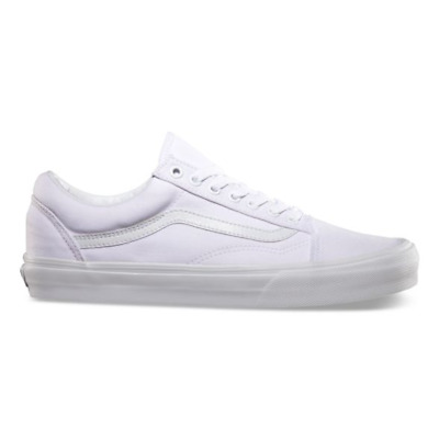 New Men and Women Vans Old Skool True White Skateboarding Shoes Classic Canvas