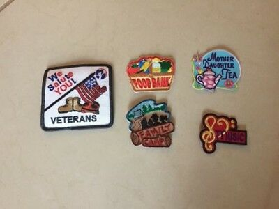 Lot of 5 AHG American Heritage Girls Event BADGES