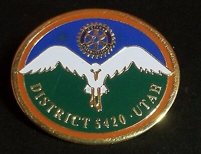 Rotary International Utah District 5420 Lapel Hat Pin