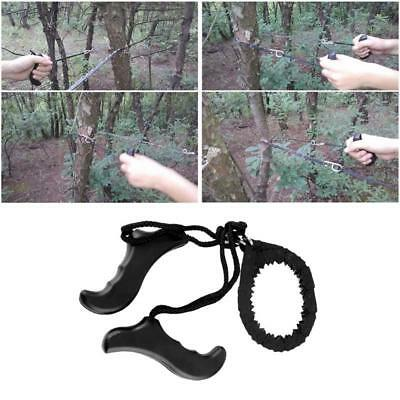 Outdoor Steel Wire Saw Camping Survival Hunting Manual Pocket Chain Saw JJ