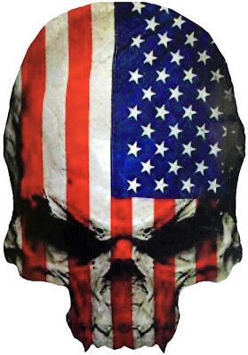 Skull United States of America USA Flag Car Motorcycle Wall Decor Decal Sticker