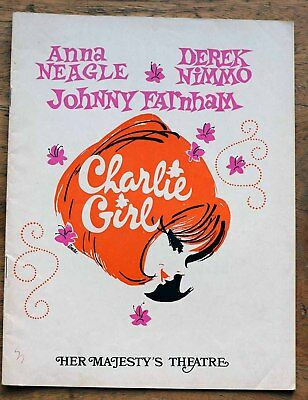 OLD PROGRAMME Her Majestys Theatre Melbourne Charlie Girl 1971 + Johnny Farnham
