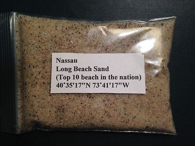 Long beach Sand Sample, Long Island, Nassau County-Top 10 beaches in Nation 20ml