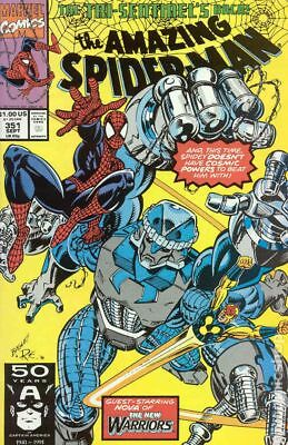 Amazing Spider-Man (1st Series) #351 1991 VF Stock Image