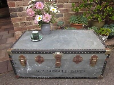 Large antique/vintage trunk / coffee table, Rustic industrial, Dural, NW sydney