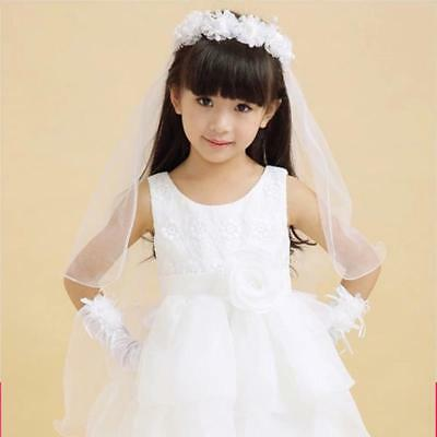 Wedding Veil Long Veils For Children Two-layer Hair Accessories For Flower Girls
