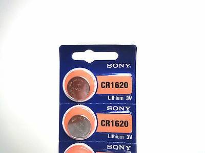 New Sony CR1620 1620 3V cell coin button battery for watch x2 pcs