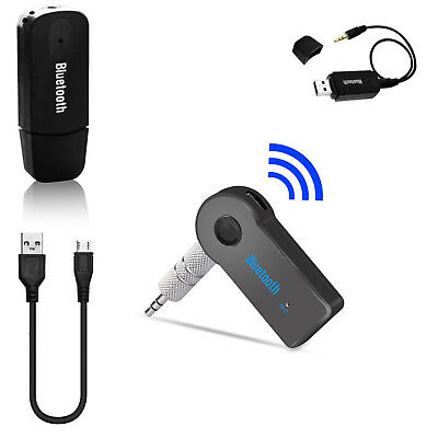 Bluetooth Wireless 3.5mm Stereo Audio Music Receiver Car AUX Speaker Adapter RH5