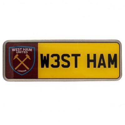 West Ham United F.C. Number Plate Badge Official Merchandise