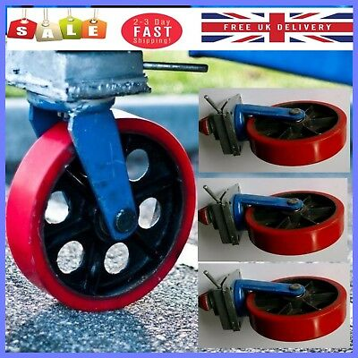 Shipping Container Skates Caster Wheels Heavy Duty Twist Lock Mechanism Set of 4