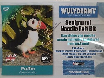 Puffin Needle Felt Kit British Wool