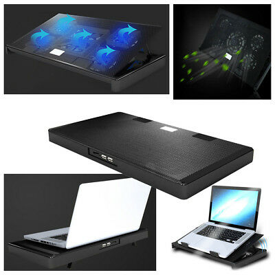 """Laptop Notebook Cooling Fan USB Cooler Pad Computer Stand For 15.6"""" 17"""" PC"""