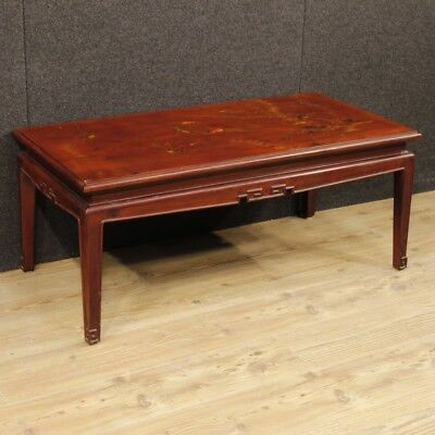 French coffee table lacquered furniture living room painted chinoiserie wood