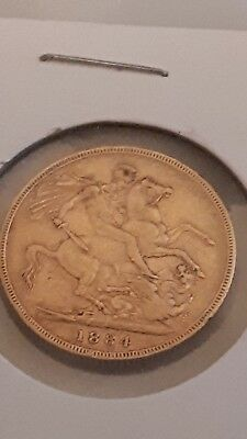1884  22ct GOLD  SOVEREIGN