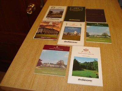 English Strokesavers, Golf Planners including Wentworth West/Belfry/Grove.