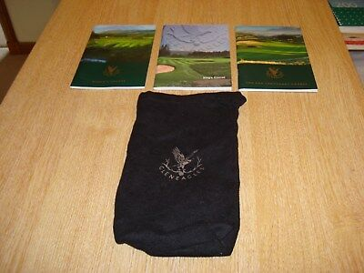 Gleneagles Course Guides, Queens/Kings/PGA and Gleneagles Tee/Valuables Bag.