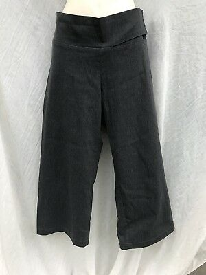 Grey Charcoal Pea In A Pod Maternity Culotte Cropped Stretchy Pants 10 12