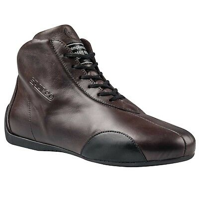 FIA Sparco Vintage Classic Fireproof Boots Size EU 48 UK 13 Leather Racing Shoes