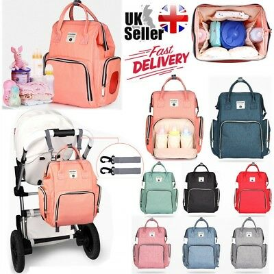 UK Waterproof Large Mummy Baby Diaper Nappy Backpack Mom Changing Travel Bags