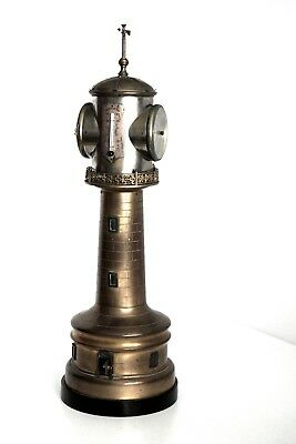 Antique Lighthouse Industrial automaton and weather station clock