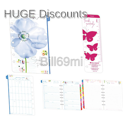 Day-Timer Two Page per Week Planner Refill, January 2019 - December 2019, 5-1...